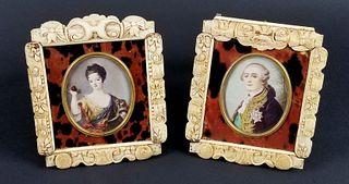 Pair of Napoleon Miniature Framed Portraits, Circa 1870