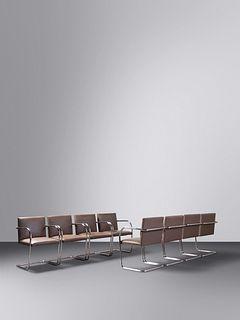Ludwig Mies van der Rohe(German/American, 1886-1969)Set of Eight BRNO Chairs