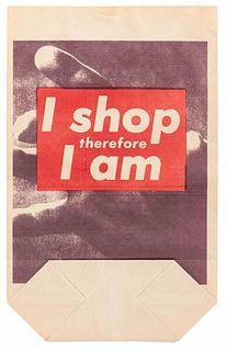 Barbara Kruger (American, b. 1945) I Shop Therefore I Am, 1990