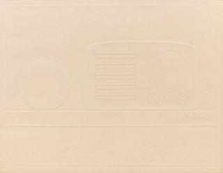 Tom Wesselmann  (American, 1931-2004) Still Life with Radiofrom the New York Ten portfolio, 1965