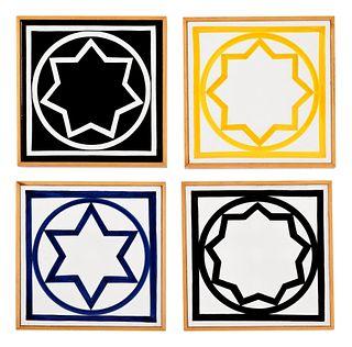 Sol LeWitt (American, 1928-2007) Untitled (Four Tiles), 1985