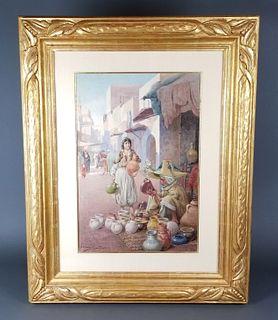 Francesco Ballesio (1860-1923) Orientalist Painting