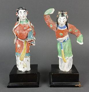 Pair of Japanese Porcelain Figurines