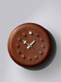 George Nelson & Associates  (American, 1908-1986) Stool Seat Wall Clock, model 7512