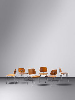 Charles and Ray Eames (American, 1907-1978 | American, 1912-1988) Set of Six DCM Chairs