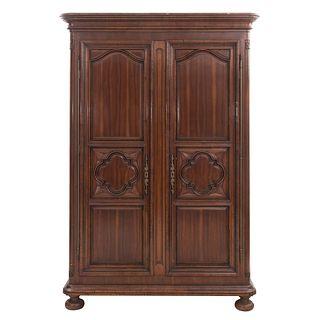 Armario. SXX. De la firma Alfonso Marina. Elaborado en madera. Con 2 puertas abatibles, cajones, entrepaños internos.