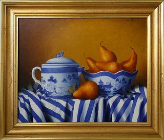"William Penniman Storck Oil on Canvas ""Canton Still Life"""