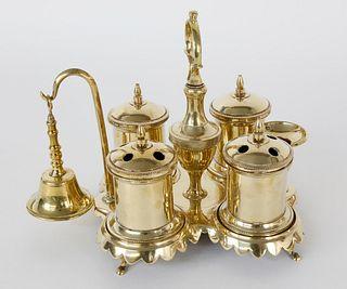 Spanish Brass Standish, circa 1780