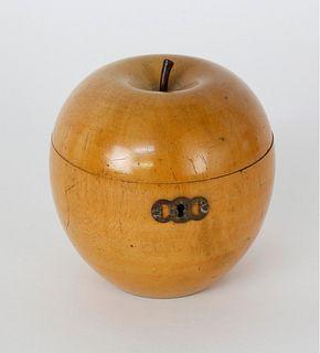 English Apple Form Tea Caddy, 18th Century