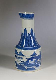 Canton Blue and White Ewer, circa 1840