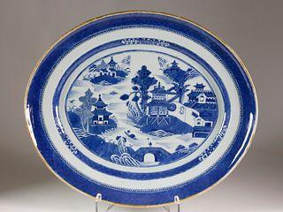 Large Nanking Platter, late 18th Century