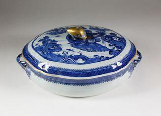 Nanking Oval Covered Tureen, circa 1820-40