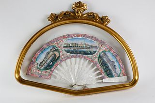 Exceptional China Trade Fan, circa 1860
