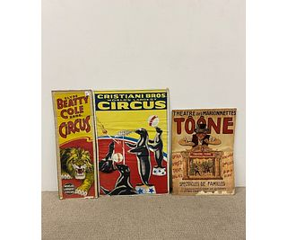 Three Circus Posters