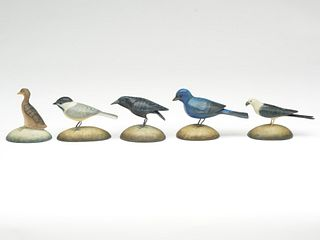 Group of five miniatures, Frank Finney, Cape Charles, Virginia.