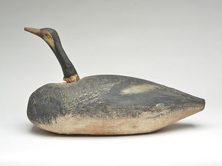 Very rare, one of two known, Canada geese, Oscar Peterson, Cadillac, Michigan, 1st quarter 20th century.