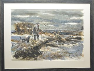 Watercolor on paper, Chet Reneson, (b.1934), Old Lyme, Connecticut.