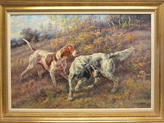 Impressive oil on canvas, Edmund Osthaus (1858-1928).