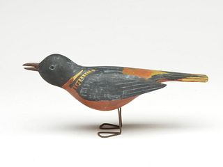 Full size oriole with iron legs, Gus Wilson, South Portland, Maine.