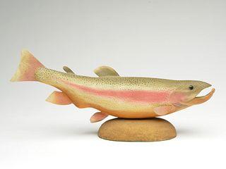 Rare trout carving, Bob White, Tullytown, Pennsylvania.