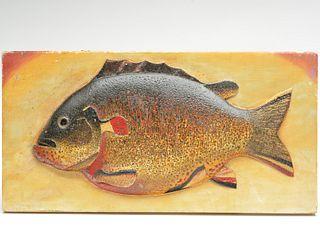 Important sunfish plaque, Oscar Peterson, Cadillac, Michigan, 2nd quarter 20th century.
