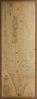 Rare Large Format Map of New York City, 1876 by Matthew Dripps