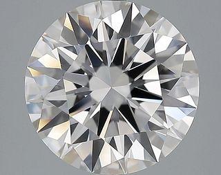 5.19 ct., H/VVS1, Round cut diamond, unmounted, IM-610-005-02