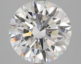 4.51 ct., H/VS1, Round cut diamond, unmounted, BRD-1233