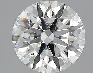 2.52 ct., D/SI1, Round cut diamond, unmounted, IM-143-095