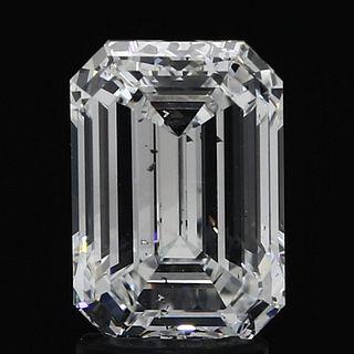 2.6 ct., D/SI1, Emerald cut diamond, unmounted, IM-339-093