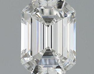 2.26 ct., F/VVS1, Emerald cut diamond, unmounted, GSD-0206