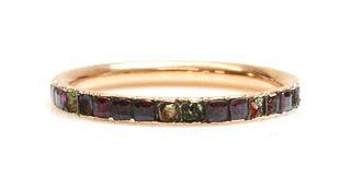 A Georgian garnet set full eternity ring,
