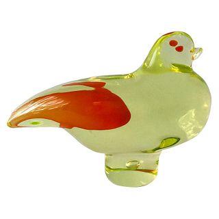 Vintage 1950s Antonio Da Ros for Cenedese Murano Italy Glass Bird Sculpture