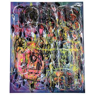 Behzad Haghiri Mixed-Media on Canvas Abstract Modern Painting