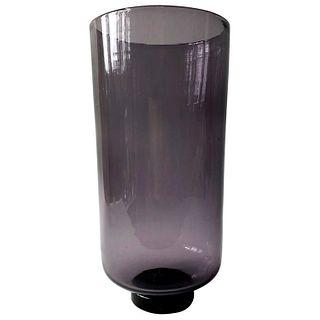 Wayne Husted for Blenko Amethyst Hand Blown American Modernist Vase