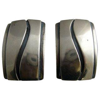 Paul Lobel American Modern Studio Sterling Silver Cufflinks