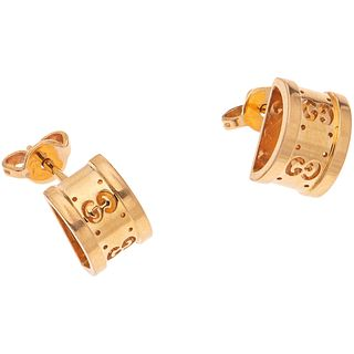 PAIR OF STUD EARRINGS IN 18K PINK GOLD, GUCCI Weight: 4.2 g