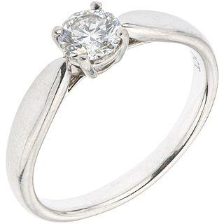 SOLITAIRE RING WITH DIAMOND IN PLATINUM, TIFFANY & CO. Brilliant cut diamond ~0.47 ct. Clarity: VS1. Size: 6