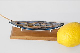 Rare and Fine Colin Gray Miniature Longboat Fully Outfitted