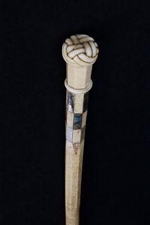 Whaleman Made Turk's Knot Walking Stick, circa 1850