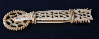 Diminutive Antique Whale Ivory Pie Crimper, circa 1850