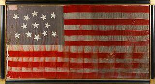 13 Star American Flag, late 19thCentury