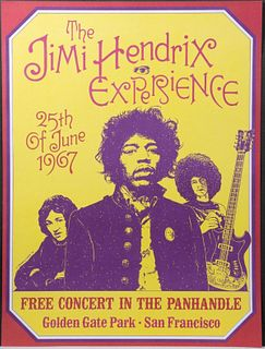 (2) Dennis Loren-/The Jimi Hendrix Experience Concert Posters