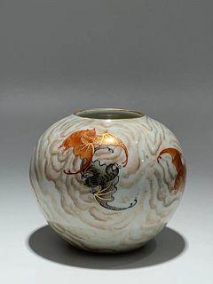 Qing Dynasty Qianlong Period Made Mark, Yunfu Pattern Water Porcelain Jar