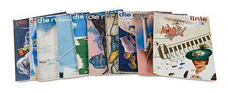 Die neue Linie. Sammlung von 67 Heften der Zeitschrift. Leipzig/Berlin, Otto Beyer, 1932-1943. Gr.-4°. Illustrierte OBroschuren.
