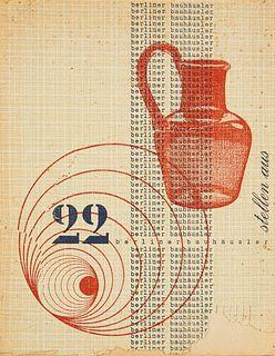 22 Berliner Bauhausler stellen aus. Ausst.-Kat. zur gleichnamigen Ausstellung des Bezirkamtes Berlin-Neukölln vom 16. Dez. 1950 bis zum 21. Jan. 195