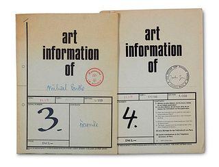 Art information. Hg. von Dietmar Kirves. Nr. 3-4. Mit zahlr. Illustrationen. Düsseldorf, mediacontact, 1971. 4°. Geheftete OUmschläge.