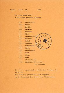 Beuys, Joseph (u.a.) Marksgrafik. 1972. 10 Graphiken verschiedener Künstler auf Papier. Serigraphien u. Offsetlithographien. Je recto od. verso signie