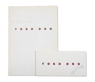 Ono, Yoko Endangered Species 2319 - 2322. Mit mehr. Abbildungen. Ausstellungskatalog Berlin, Stiftung Starke, 1992. 4°. Unpag. OKarton.