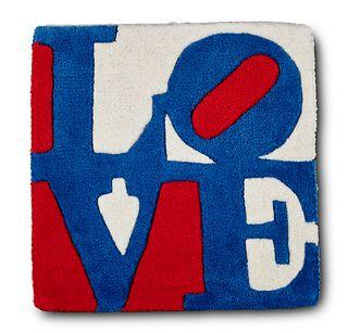 Indiana, Robert Teppich Czech-Love. 2006. In Handarbeit geknüpfte Wolle. Editiert von der galerie-f, Kranenburg. 40,5 x 40,5 cm.